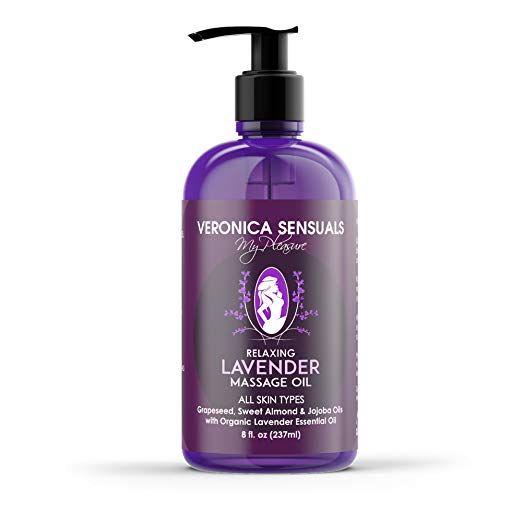 Veronica Sensuals Organic Lavender Relaxing Massage Oil