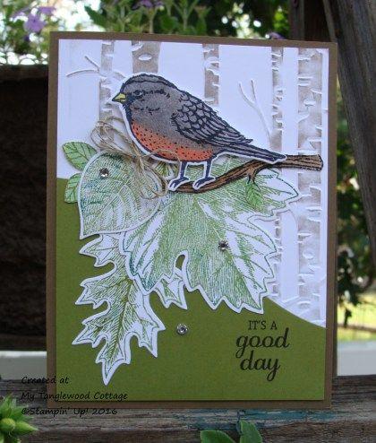 Best Birds Birds & Blooms Thinlits Dies, Vintage Leaves, Leaflets Framelits, Woodland Embossing Folder, My Tanglewood Cottage