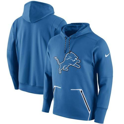 bde1fa07bd82 Men s Detroit Lions Nike Royal Champ Drive Vapor Speed Pullover Hoodie
