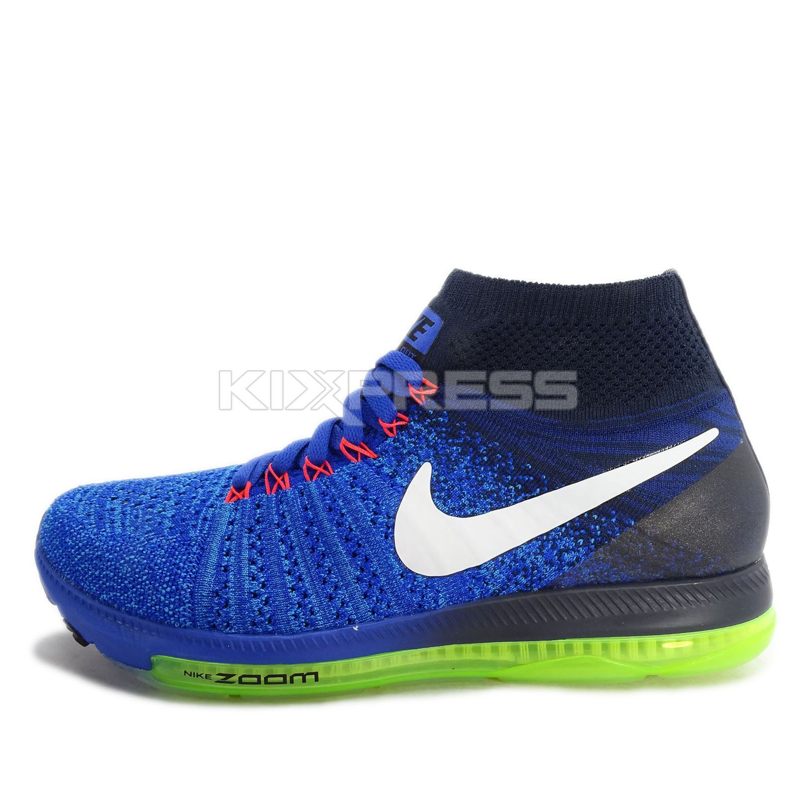 76e815635099b Wmns Nike Zoom All Out Flyknit Oc  845361-401  Running Blue White-Navy