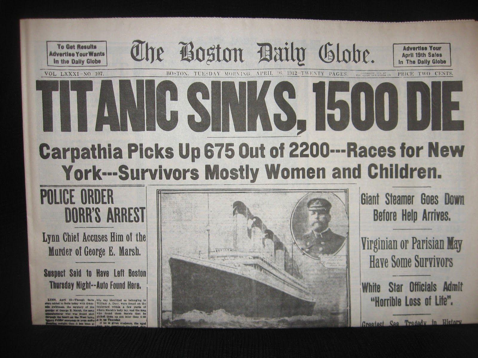 Titanic Sinking Kid Friendly