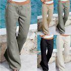 Photo of Pantaloni larghi casual LarePlus da donna in lino di cotone con gamba larga Pantaloni palazzo larghi