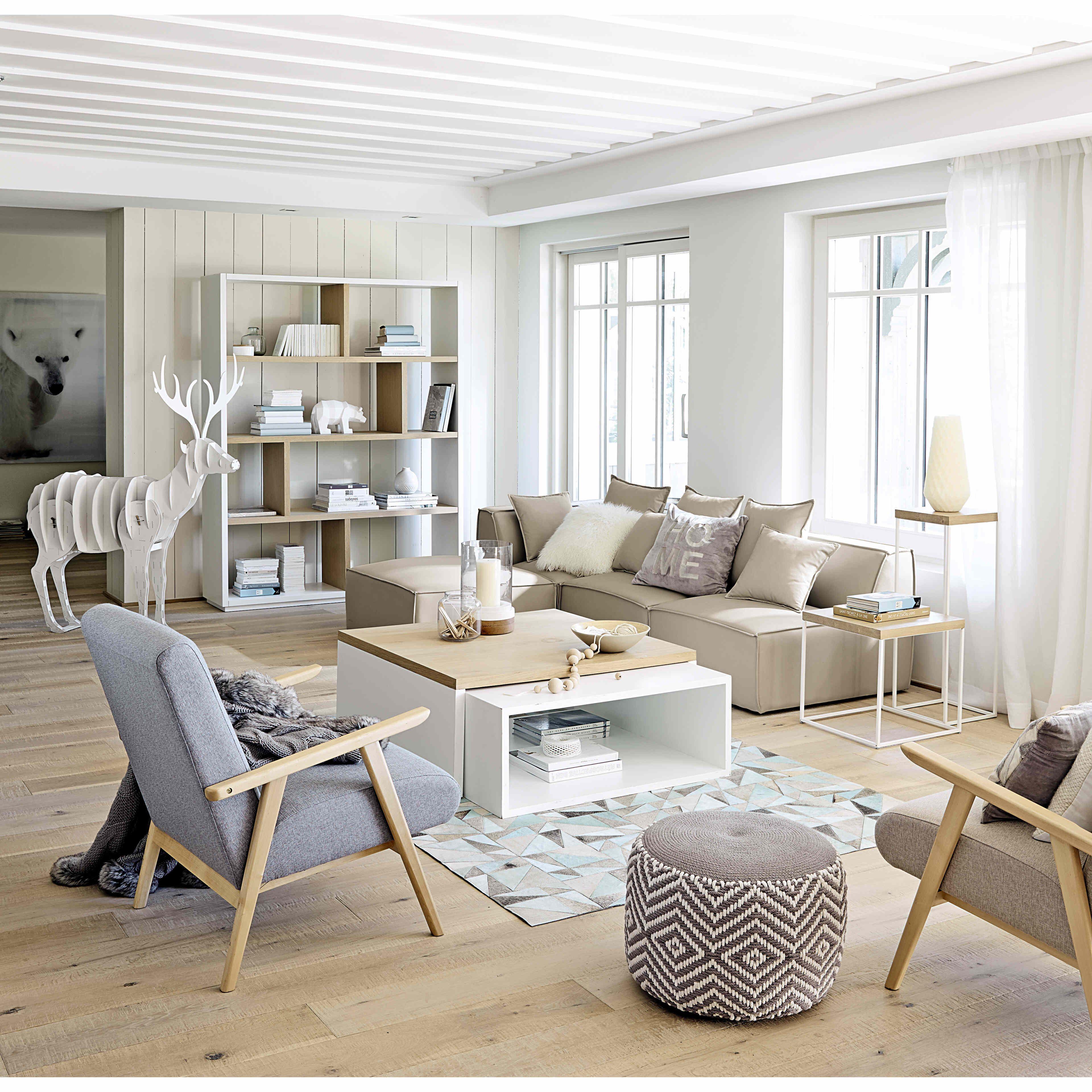 Fauteuil met beige bekleding benson maisons du monde de l 39 int rieur pinterest maison du - Maison du monde 94 ...