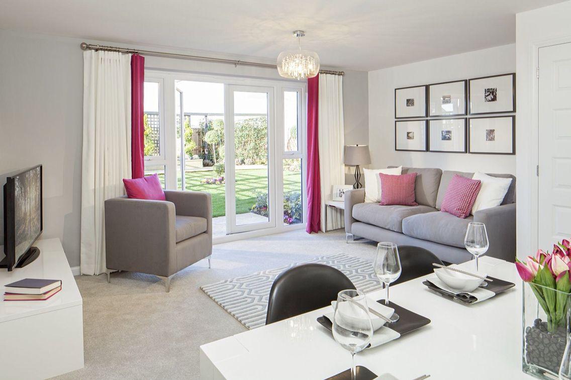 Grey And Pink Lounge Diner Living Room Decor Room Decor Decor