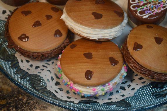 Chocolate Chip Cookie Ice Cream Sandwiches by HouseMountainNatural