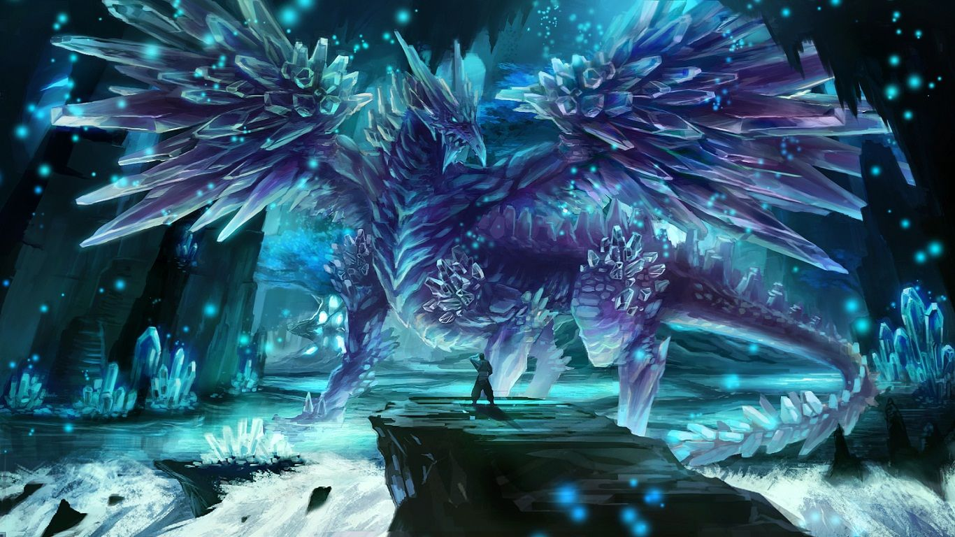 Image For Fantasy Ice Dragons Cool Wallpapers