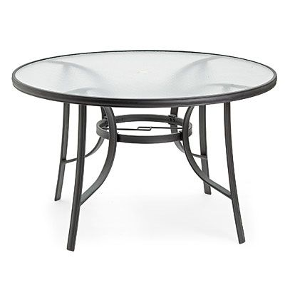 80 Wilson Amp Fisher 174 48 Quot Round Glass Dining Table At Big
