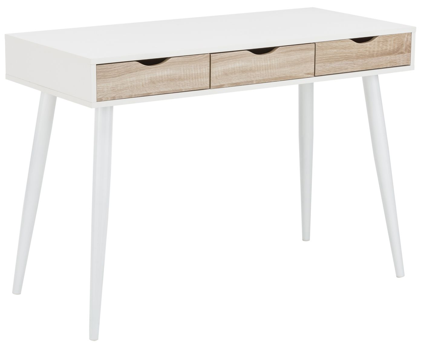 Schreibtisch Neptun In Weiß Mit Schubladen Aus Eichenholz Ist Perfekt Für  Ihr Home Office Und