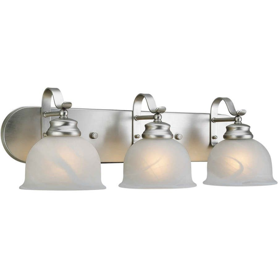 Shandy 3 Light 8 In Brushed Nickel Vanity Light Vanity Lighting Bath Vanity Lighting Bathroom Fixtures