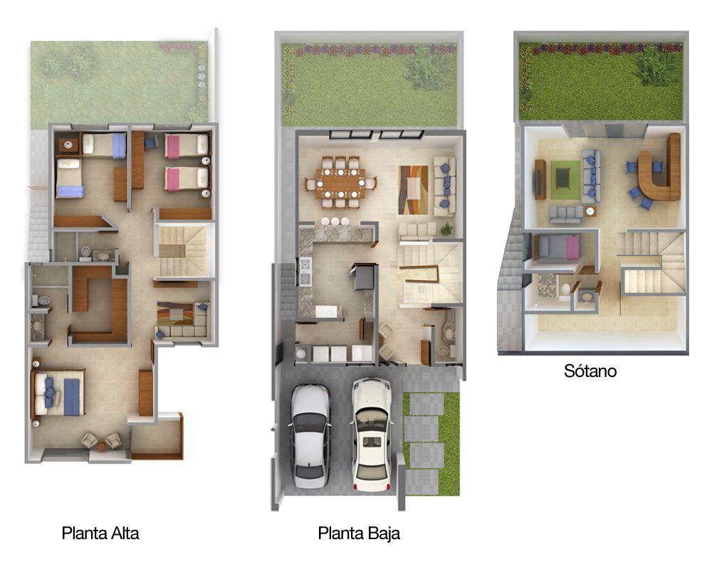 Planos de casas y plantas arquitect nicas de casas y - Planos de casas planta baja ...