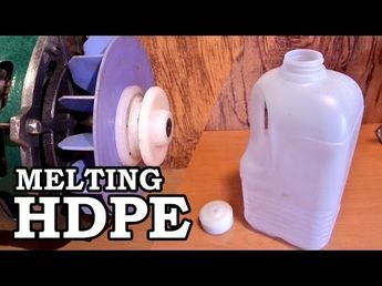 Turning an HDPE Milk Jug into a Motor Pulley is part of Upcycled Crafts Reuse Milk Jug - Making usable plastic stock from an HDPE milk jug is a lot easier than you might think