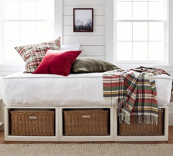 Stratton Storage Platform Daybed With Baskets Pottery Barn
