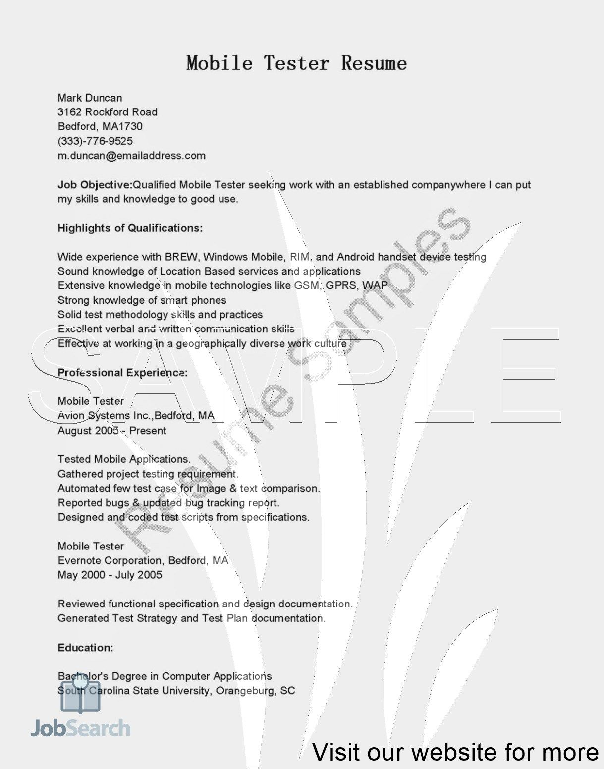 Indeed Jobs Resume Template Free Downloadable in 2020
