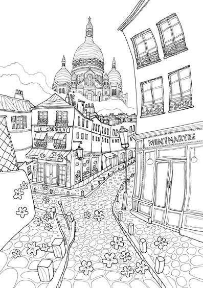 coloring pages of frnce - photo#25