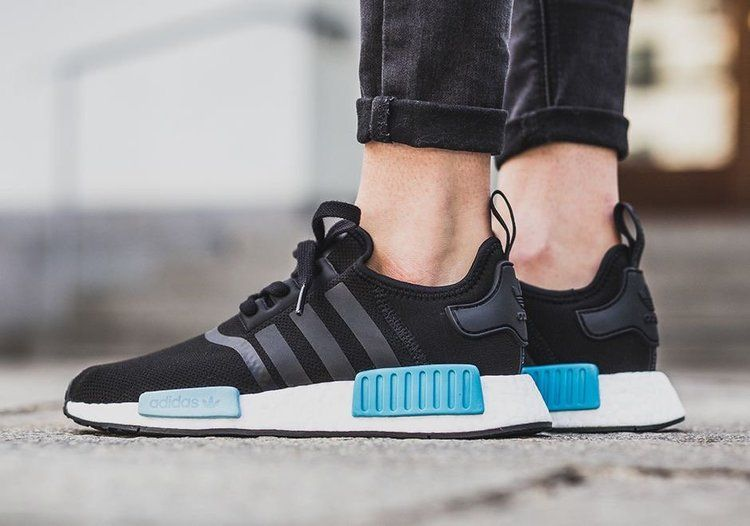 Now Available Women S Adidas Nmd R1 Icy Blue Running Shoes