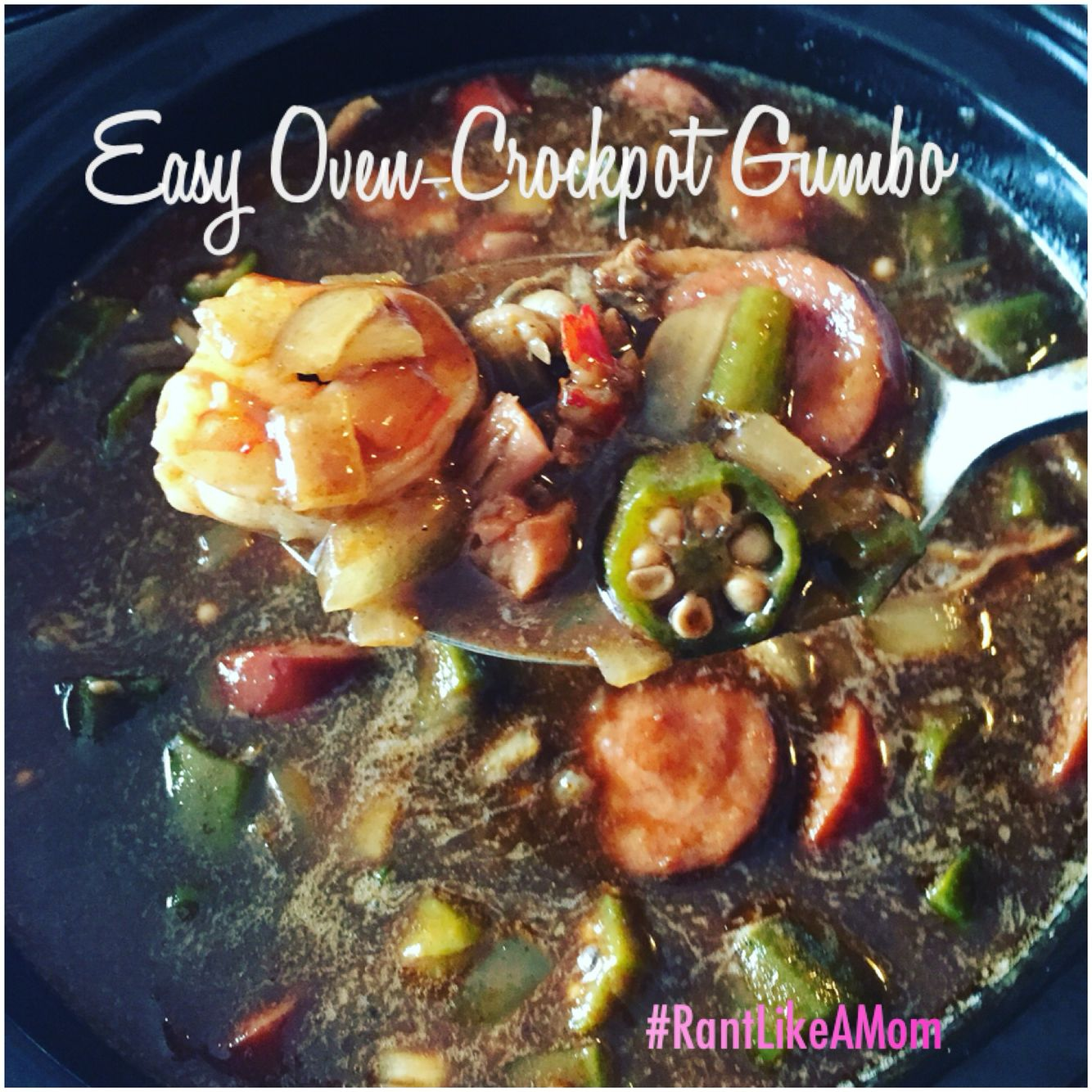 Louisiana-style gumbo from the oven to the crockpot... It doesn't get any easier than this!