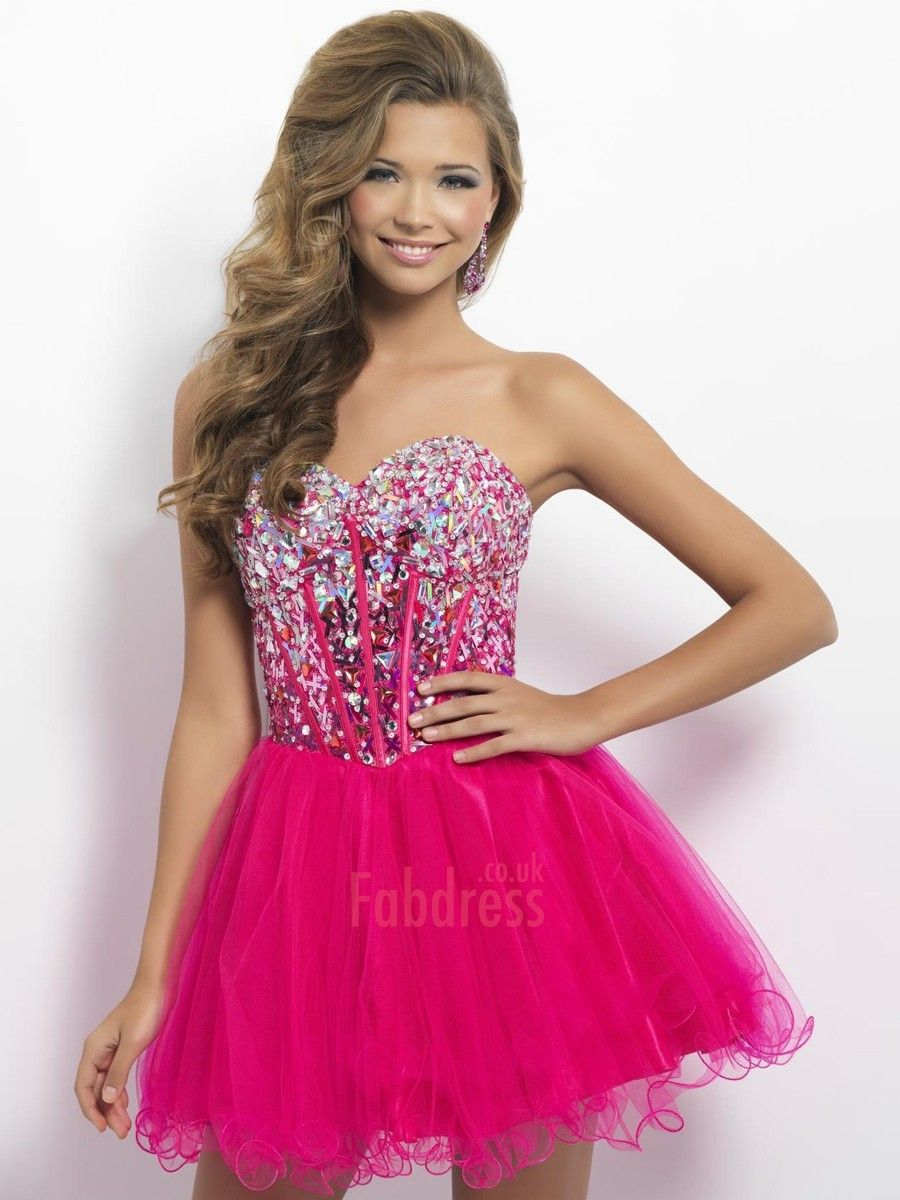 A-line Sweetheart Beading Sleeveless Short / Mini Tulle Cocktail Dresses/  $249.99 Cocktail Dresses