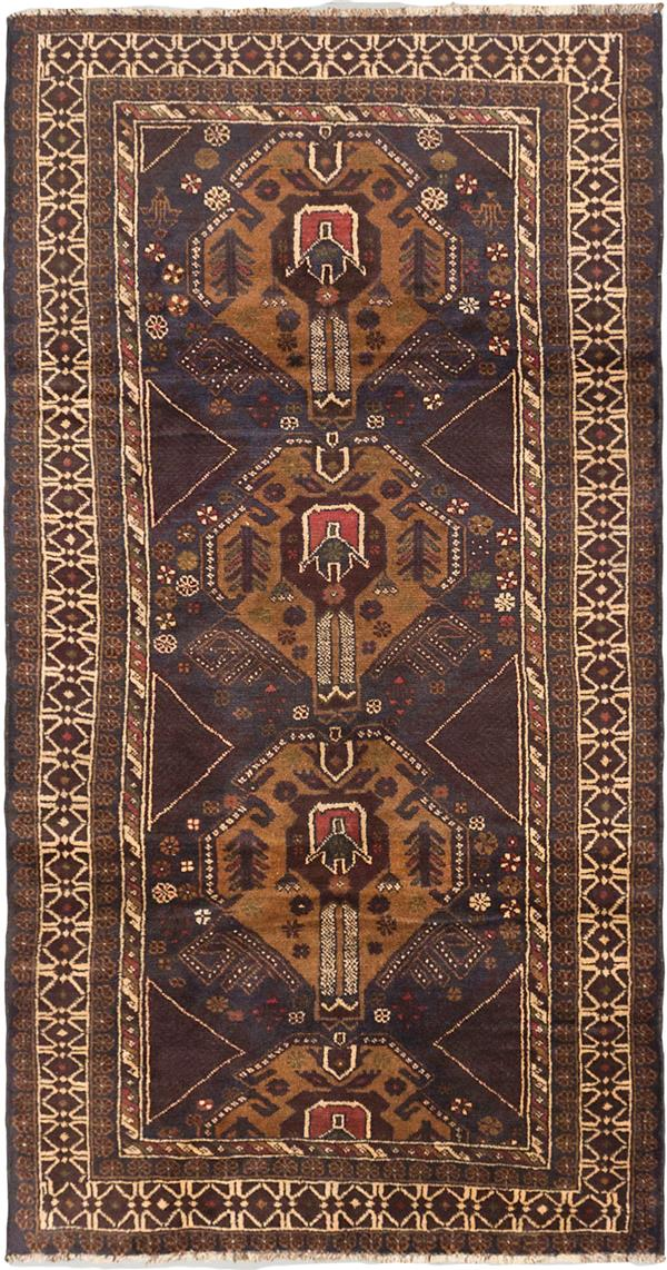 Handwoven By The Baluch Tribes Of Western Afghanistan And Eastern Iran In 2020 Navy Wool Rugs Rugs Brown Rug