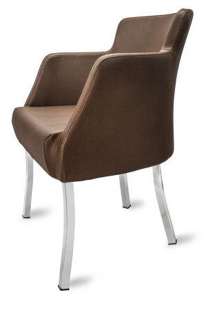 Gastro Stuhl Sessel PRIMO braun   Loungemöbel für Gastronomie ...