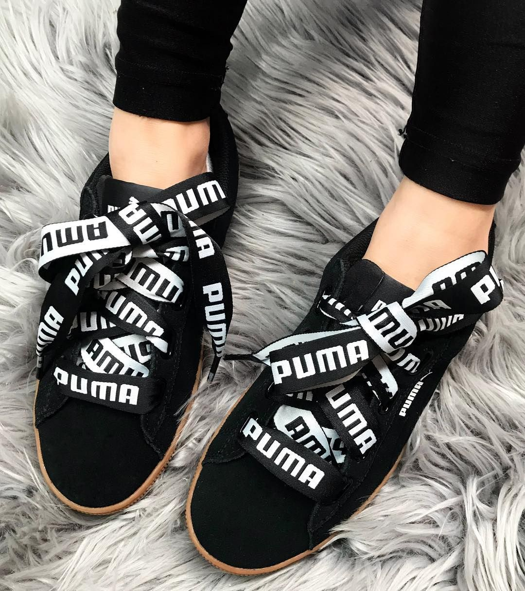 Talk about logo love ❤ The super fresh PUMA Vikky Platform Ribbon Bold in  Black is one of your kicksdrobe Add to cart at or Afterpay it at ... 1fb5b5534d