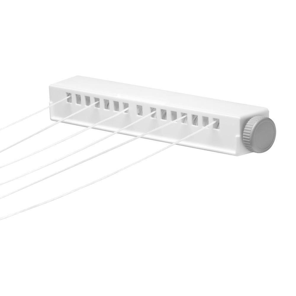 6 Line Extendable Clothesline, White