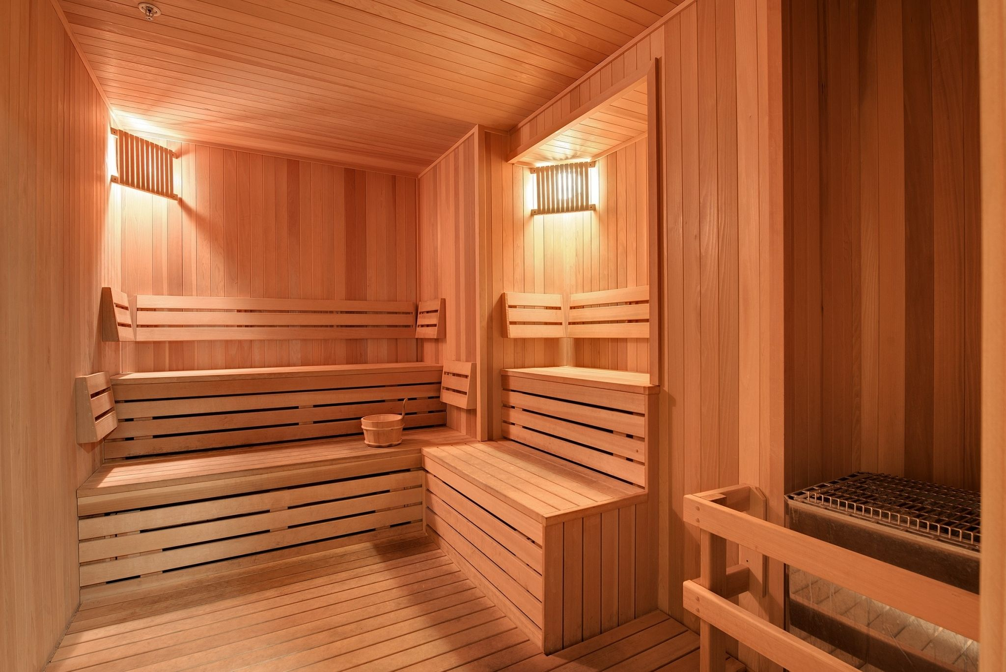 Sauna at Eitel Building City Apartments in downtown ...
