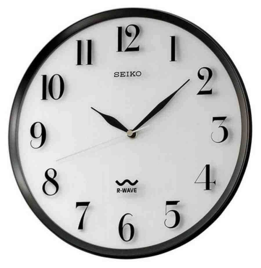 Seiko Atomic Wall Clock Atomic Wall Clock Black Wall Clock Wall Clock Light