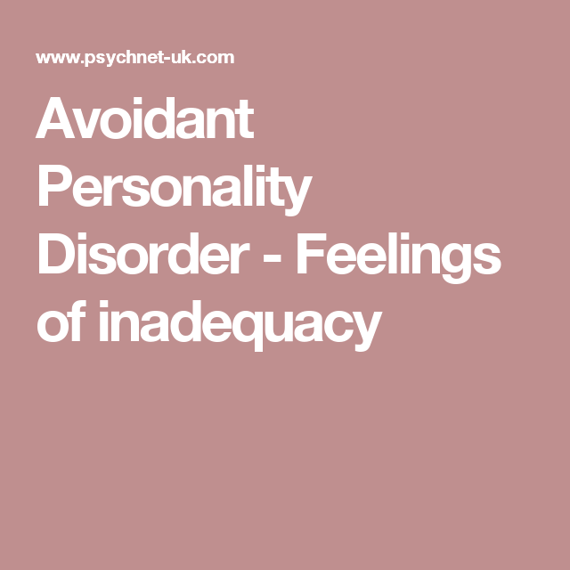 Avoidant personality disorder forum