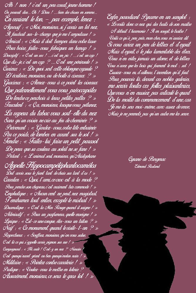 Tirade Du Nez Cyrano De Bergerac : tirade, cyrano, bergerac, Tableau, Personnalisé, Tirade, Cyrano, Bergerac, Bergerac,, Décoration, Texte
