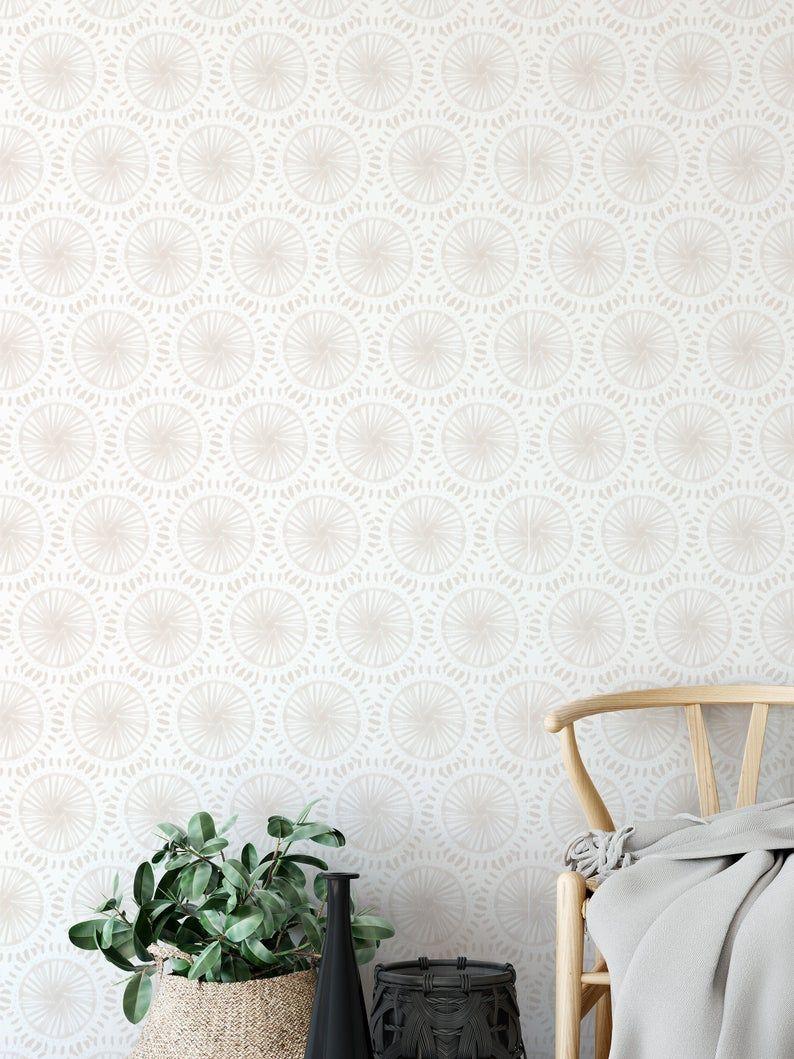 Minimal Wallpaper Hand Painted Wallpaper Linen Color Peel Etsy Hand Painted Wallpaper Minimal Wallpaper Painting Wallpaper