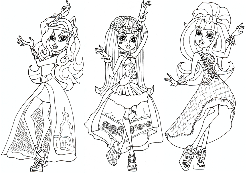 37 best Colouring monster high images on Pinterest Adult