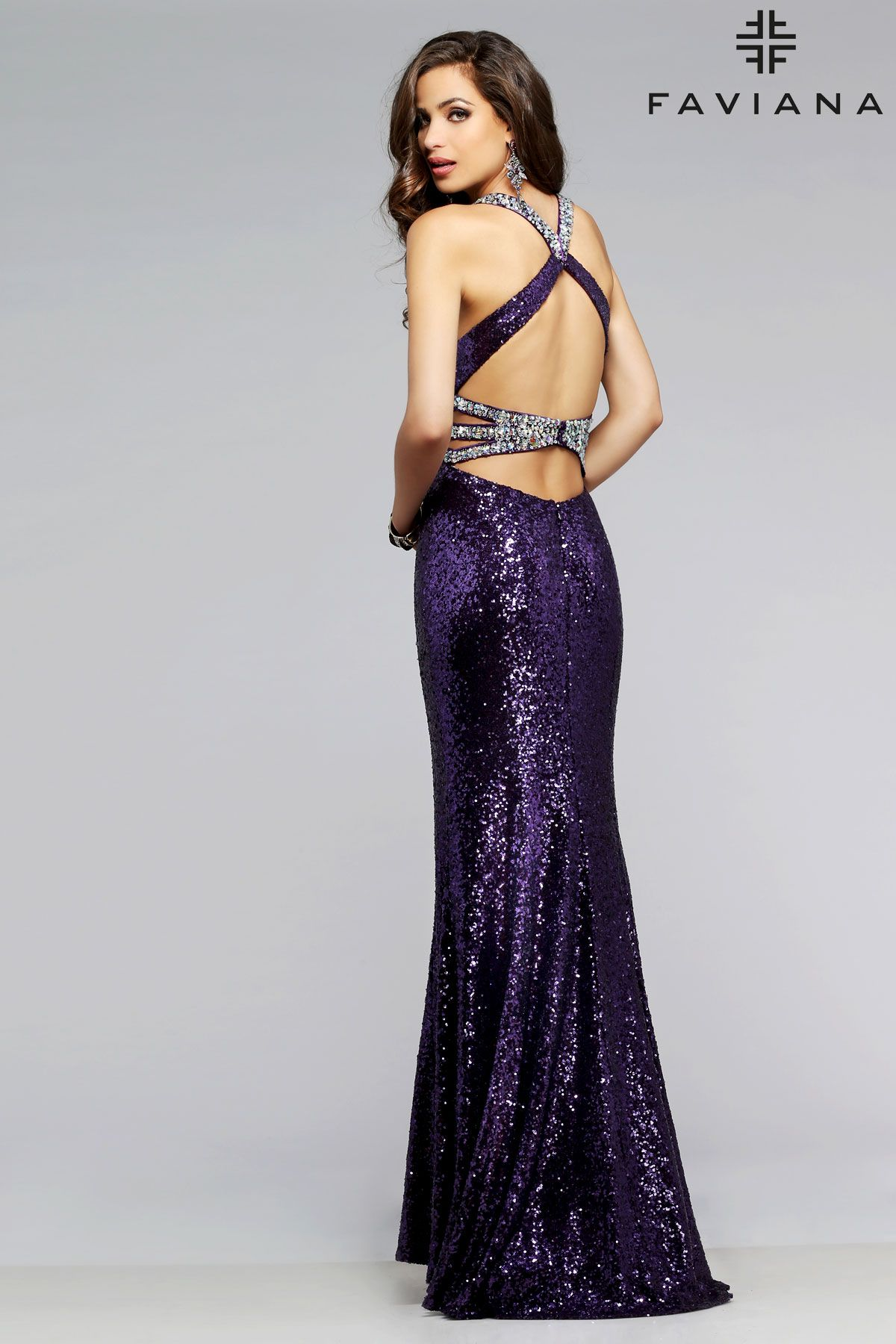 f5da525f Sequin Side Cut Out Dress details #Faviana Style 7507 | Sequin ...