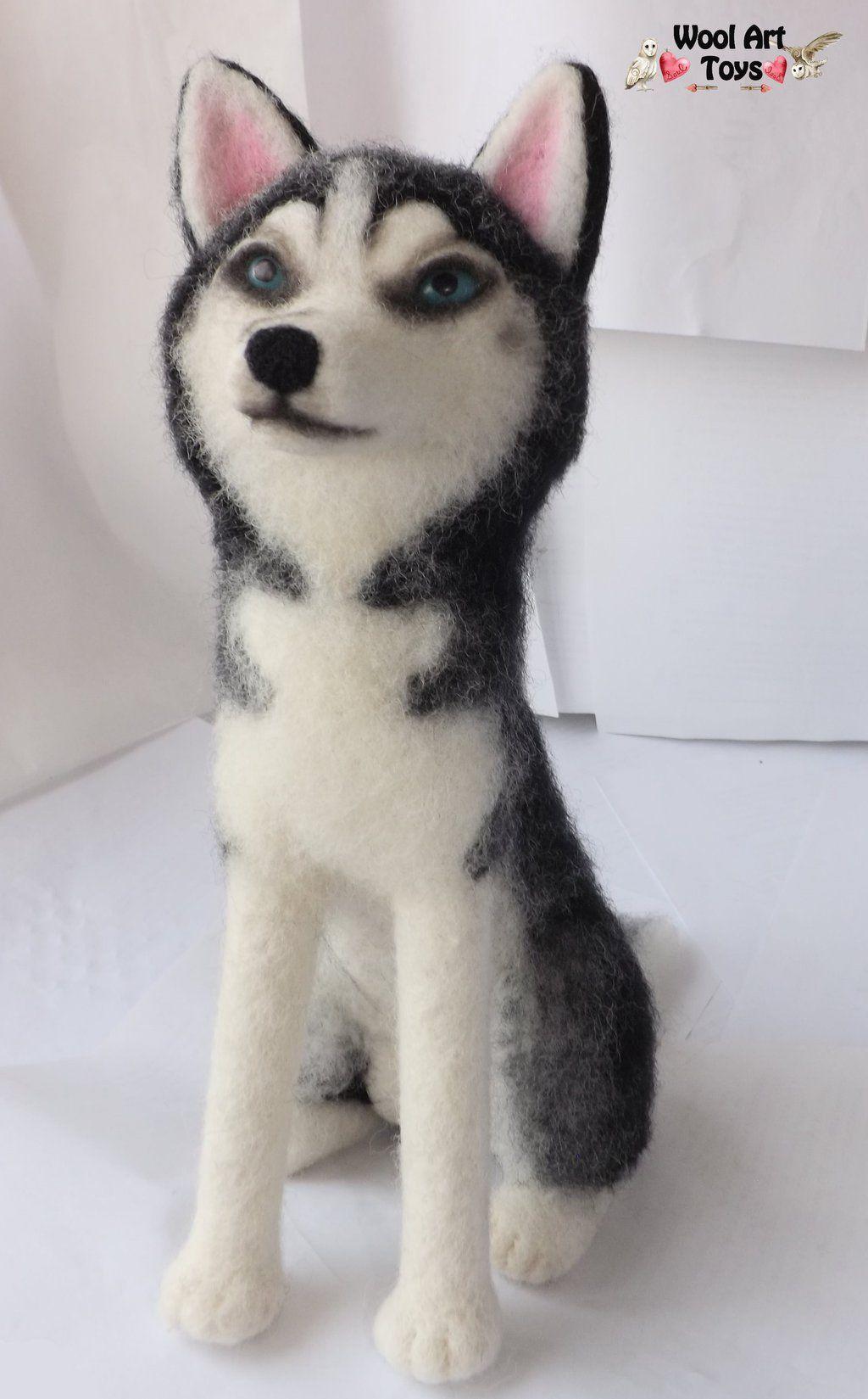Needle felted Siberian Husky - Maya by WoolArtToys.deviantart.com on @DeviantArt