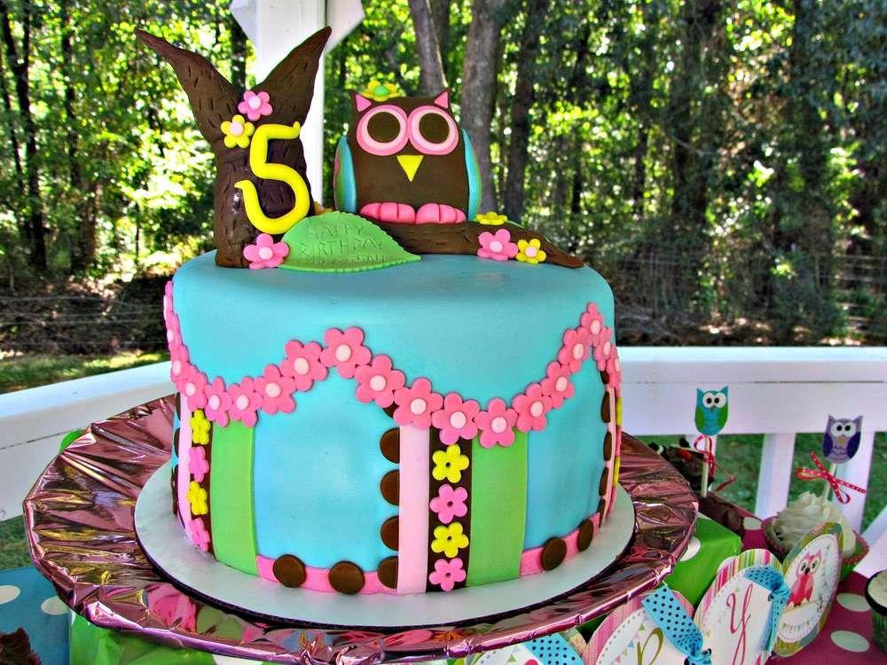 Owl Birthday Party | CatchMyParty.com