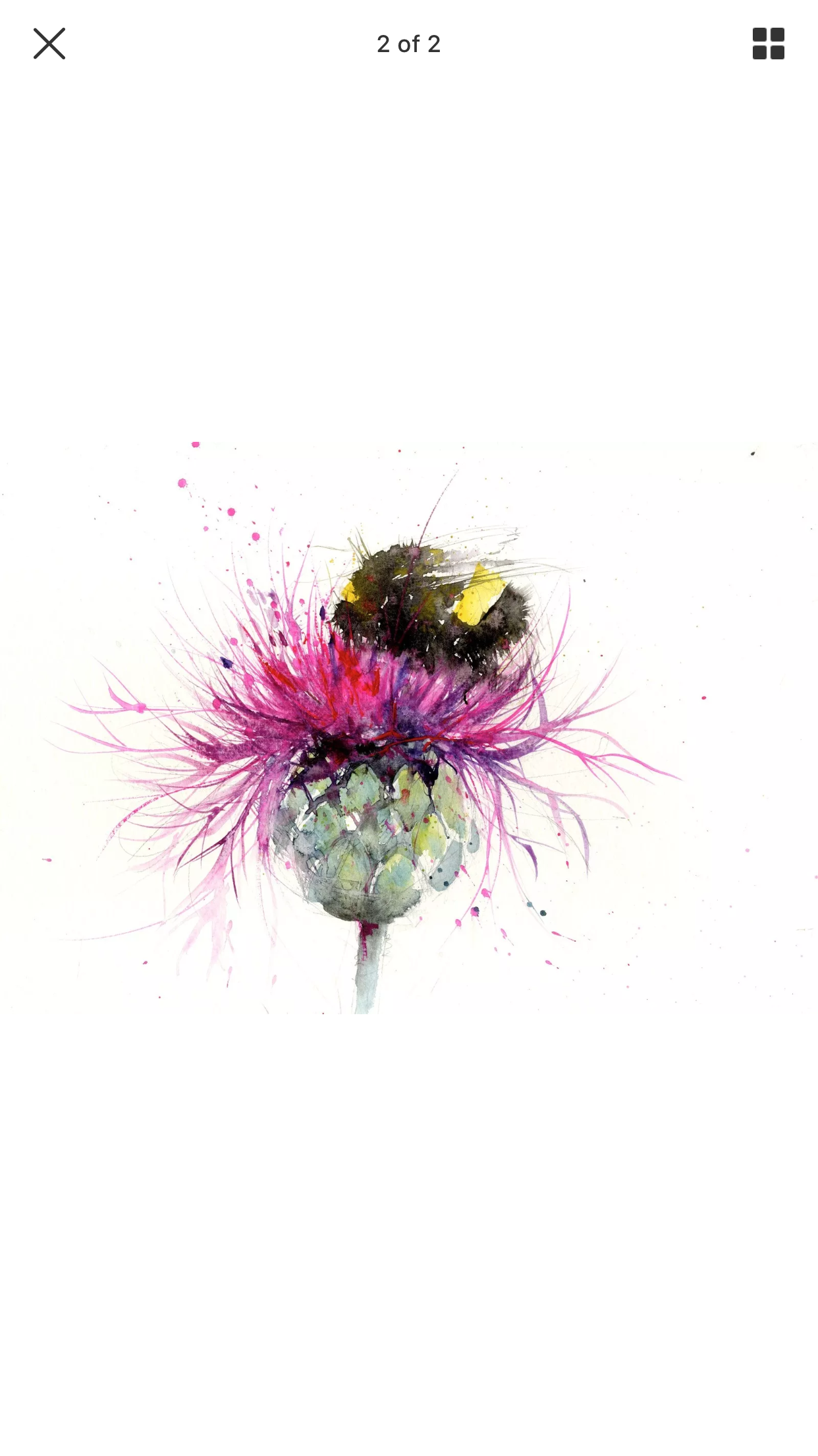 fe3247678c206 Bee on a thistle watercolour | art inspo | Watercolor art, Bee ...