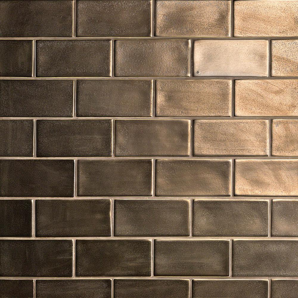 Ivy Hill Tile Oracle Metallic Copper 3 In X 6 Polished
