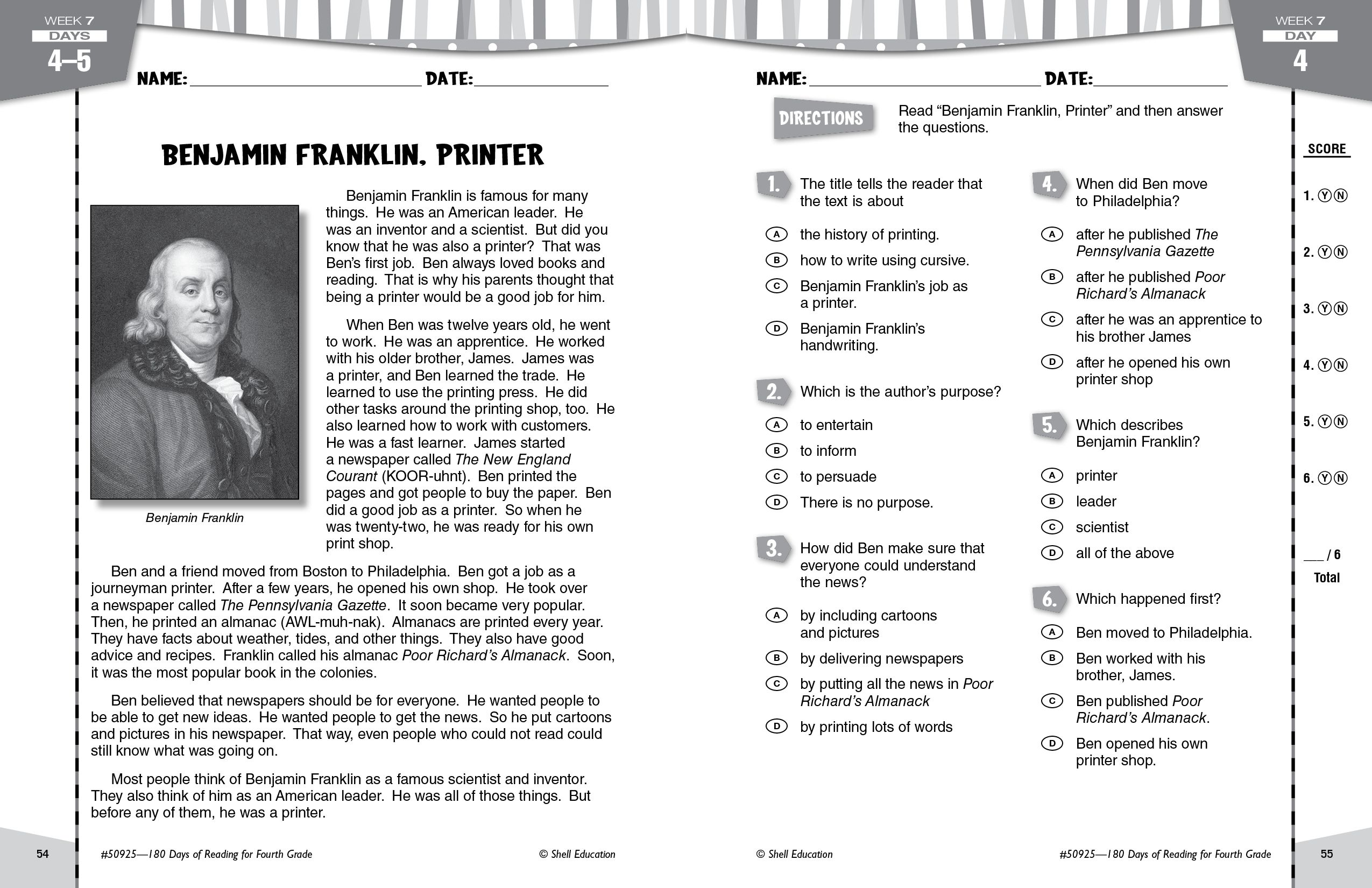 Benjamin Franklin Is Famous For Many Things But Did You Know That He Was Also A P 5th Grade Social Studies Teacher Created Materials Social Studies Curriculum
