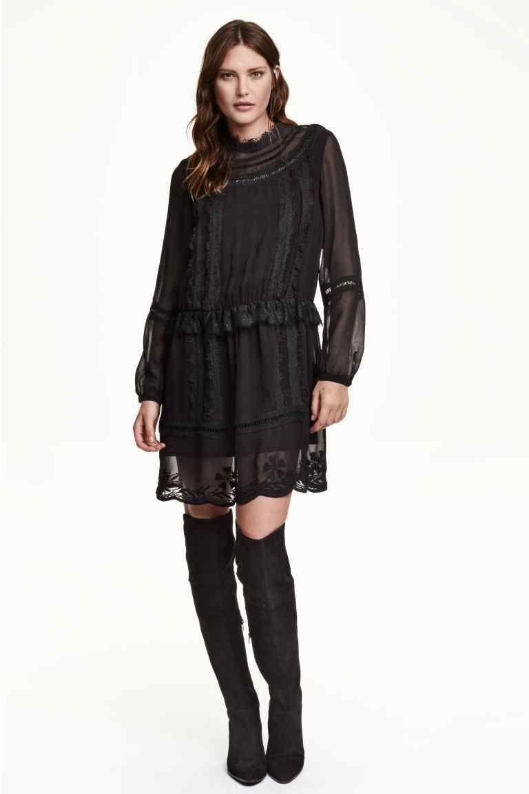 12ba720cc886 Šifónové šaty s čipkou
