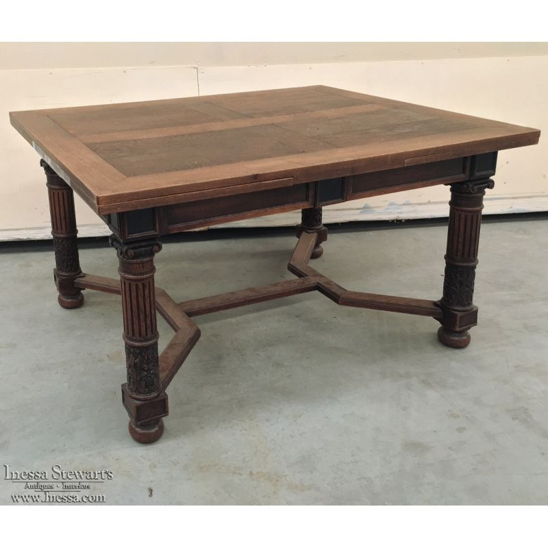 19th Century Romanesque Draw Leaf Dining Table With Images