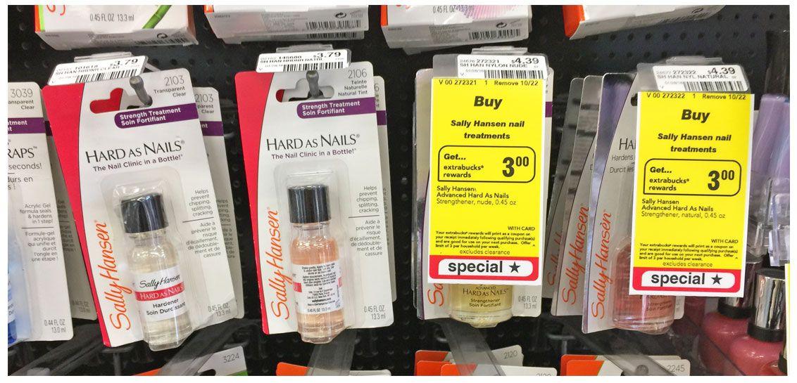 sally hansen hard as nails treatment only 1 39 at cvs coupon