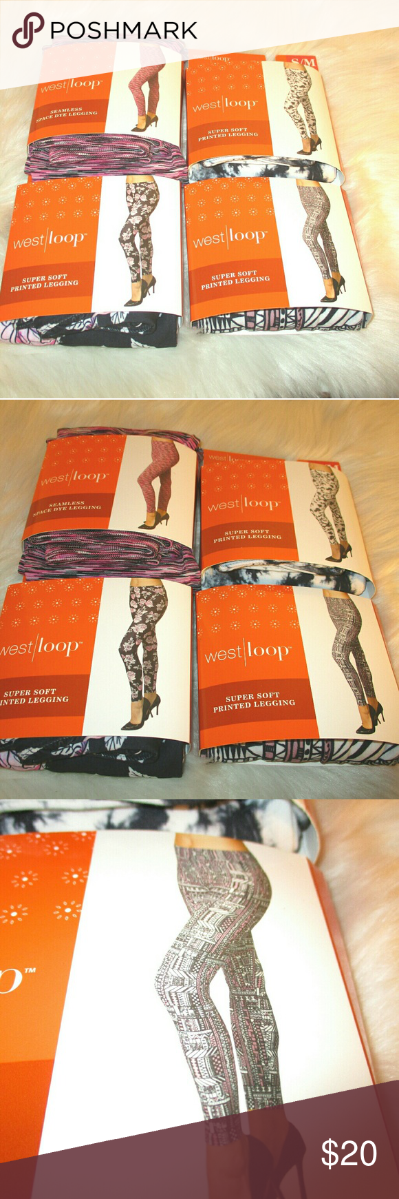 b834770cebbd7d Bundle 4 pairs West Loop super soft leggings S/M 4 pairs of West Loop super  soft leggings! All 4 new in package All 4 size Small / Medium Four  different ...
