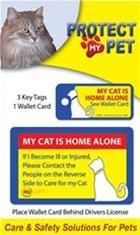 Cat emergency wallet card and key tags in 2021 cat