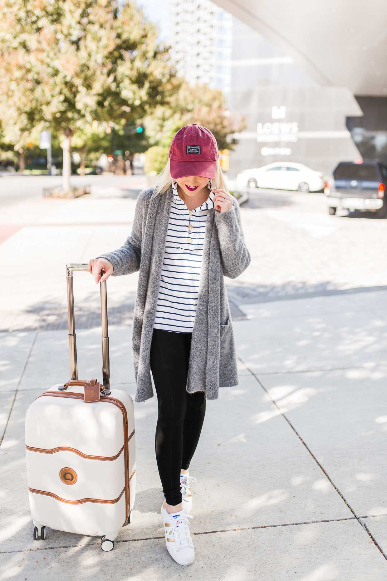 2223c336796 What To Wear On Long Flights - Travel Outfit - Poor Little It Girl