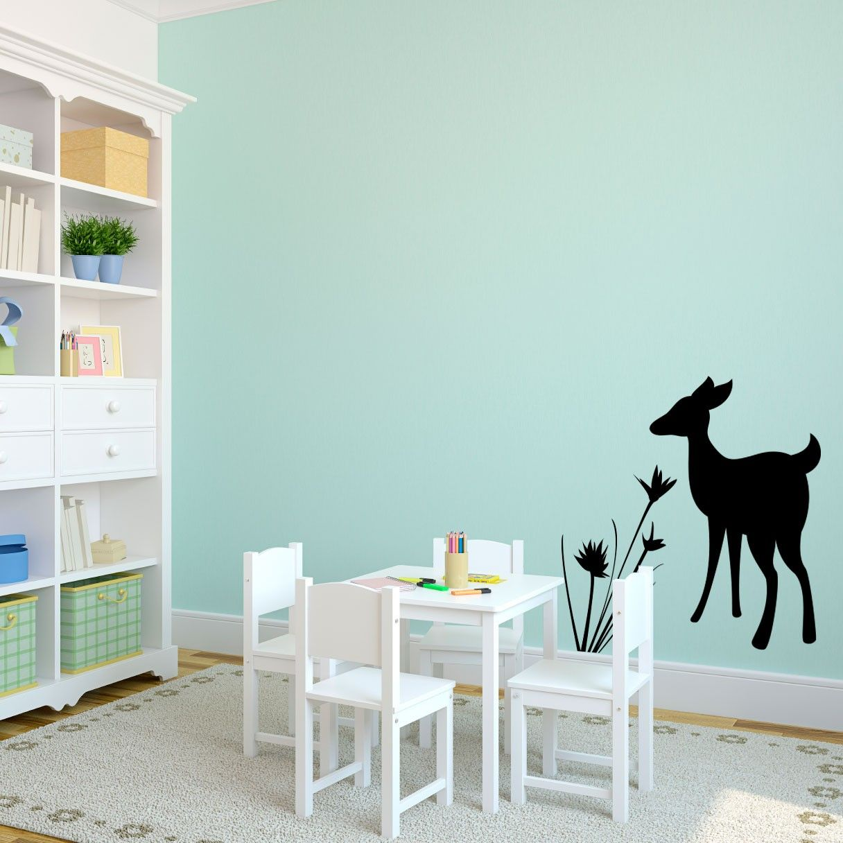 Baby Deer Fawn Kids Rooms Vinyl Wall Art Decal For Kids Rooms - Custom vinyl wall decals deer