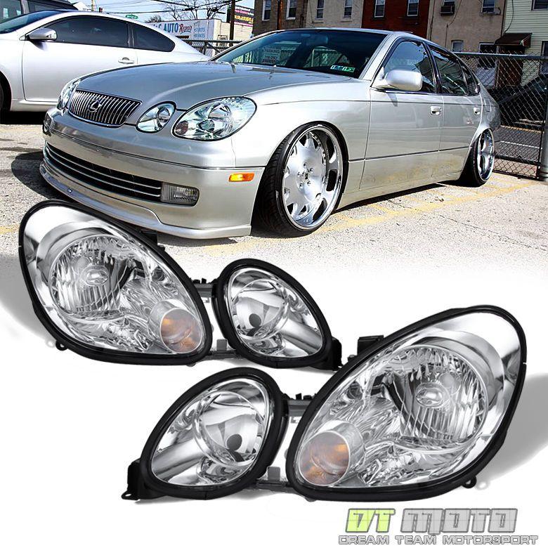 For 1998 2005 Gs300 Gs 430 400 Headlights Headlamps Replacement Left Right Ebay Lexus Headlights Lexus Gs300