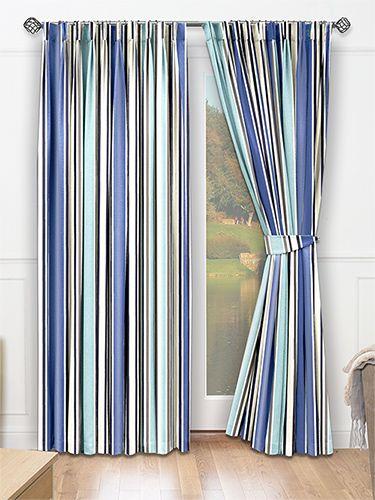 Festival Beach Blue Curtains from Curtains 2go | Ideas for home ...