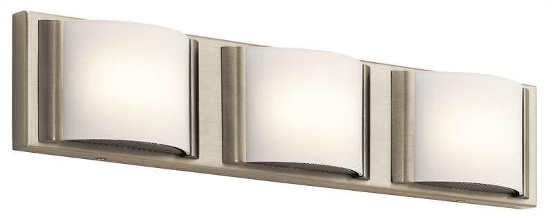 Photo of Élan Bretto Bath 3Lt LED Brushed Nickel – 83818