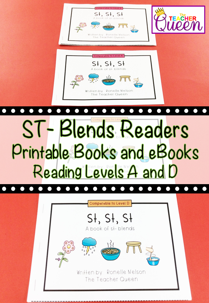 St Blend Readers Levels A And D Printable Books And Ebooks