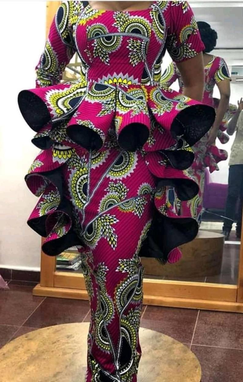 African prom dress/Ankara long dress/African women | Etsy #ankarastil African prom dress/Ankara long dress/African women | Etsy #ankarastil