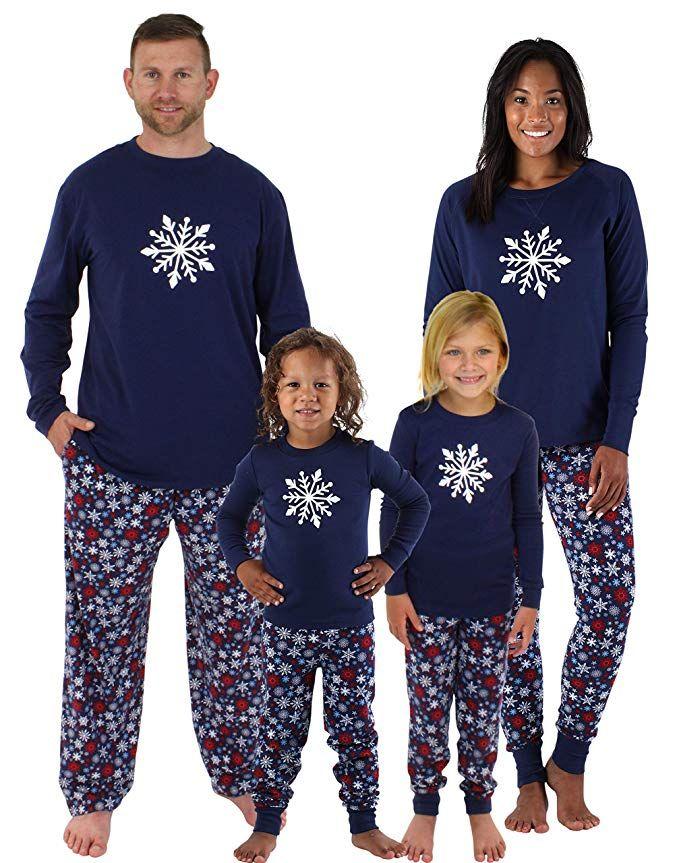 Sleepyheads Holiday Family Matching Winter Navy Snowflake